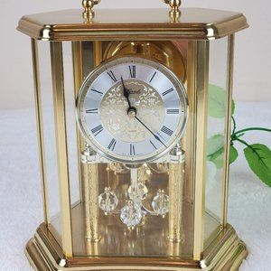 Vtg Hermle Mantle Carriage Clock Made in Germany